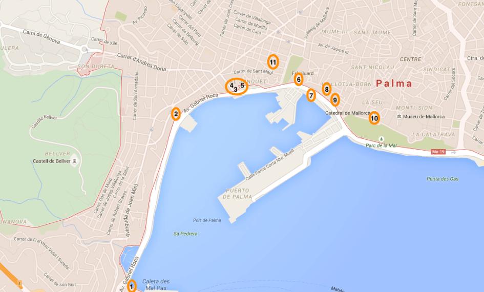The bay of Palma call&ride